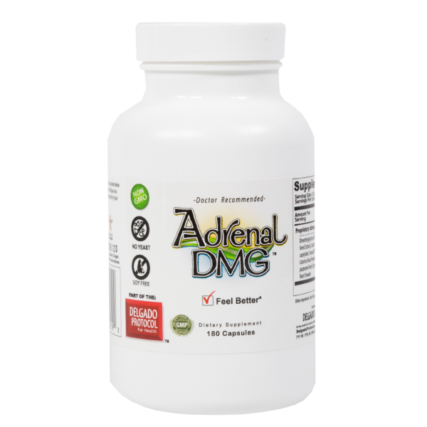 Delgado Protocol - Adrenal DMG 180 caps Detox Products - Price Drop