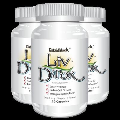 Estroblock Liv D-Tox  (3 Pack) - Delgado Protocol - Save $17.35!!!
