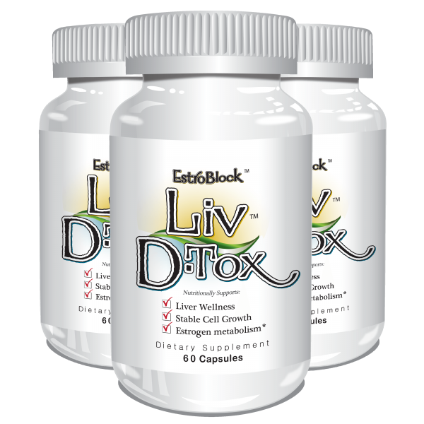 Delgado Protocol - Estroblock Liv D-Tox 60 caps (3 Pack) Save $17.35!!! Detox Products