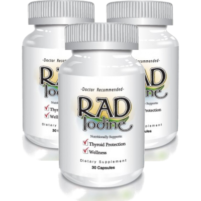 Delgado Protocol - Rad Iodine 30 caps (3 Pack) Save $14.95!!!