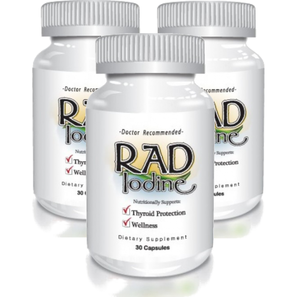 Delgado Protocol - Rad Iodine 30 caps (3 Pack) Save $14.95!!! Detox Products