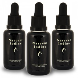 Nascent Iodine - 1oz (2% Strength) 30ml (3 Pack = 90ml) Save $25!!! Detox Products