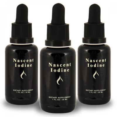 Nascent Iodine - 1oz (2% Strength) 30ml (3 Pack = 90ml) Save $25!!!