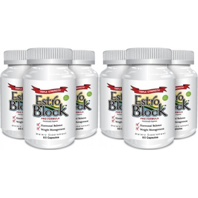 Delgado Protocol - EstroBlock Pro Formula Triple Strength 60 caps (6 Pack) Save $50.00!!!