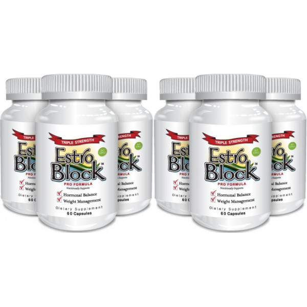 Delgado Protocol - EstroBlock Pro Formula Triple Strength 60 caps (6 Pack) Save $50.00!!! Detox Products