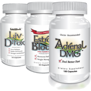 EstroBlock Pro  + Estroblock Liv D-Tox  + Adrenal DMG
