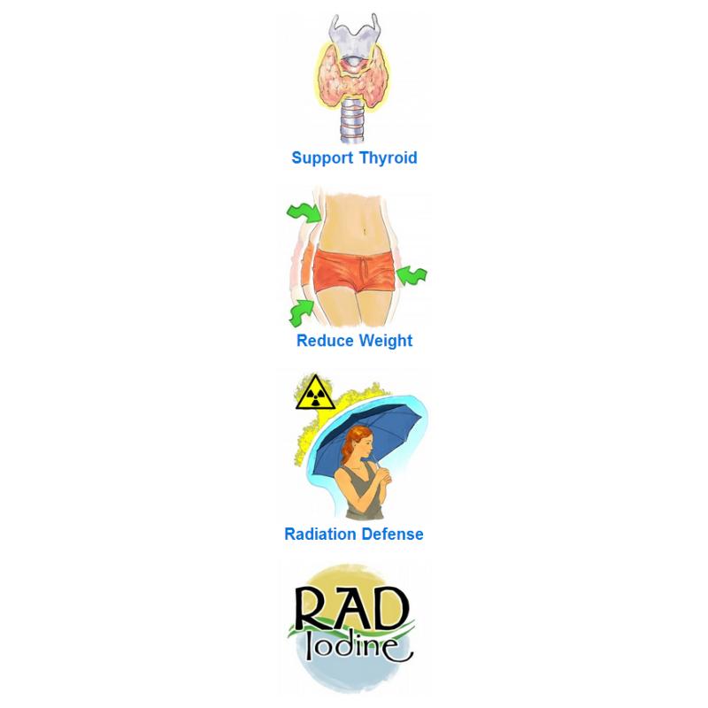 Rad Iodine 30 caps - Delgado Protocol